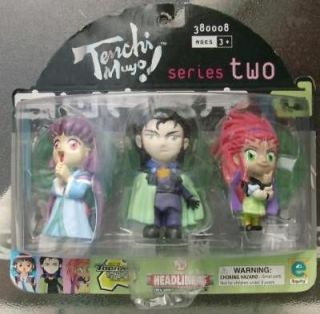 Tenchi Muyo Headliners Series Two 3 Figure Set MOC