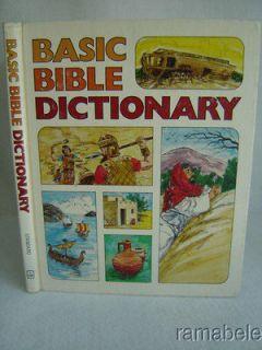 Basic Bible Dictionary by Velda Matthews and Ray Beard Color Illus