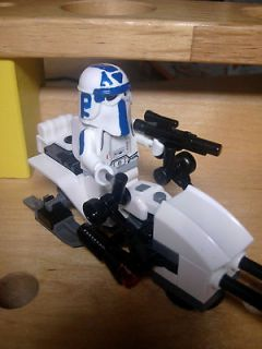 Lego Star Wars Custom Commander Rex Clone Wars Snowtrooper with Snow