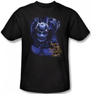 SIZE Batman Arkham Asylum Video Game Logo Bane Face DC T shirt top