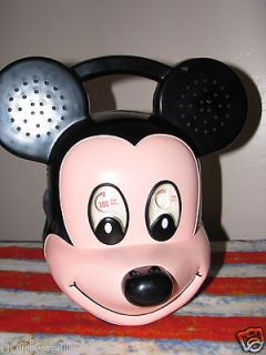 HTF VINTAGE WALT DISNEY MICKEY MOUSE HEAD AM/FM RADIO LARGE 1990S