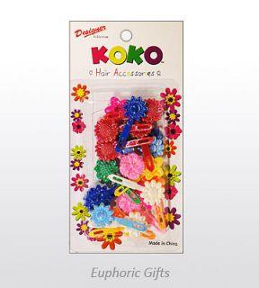 Koko Hair Barrette For Children   Sunflower Mix   Glossy Assorted