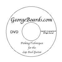 Guitar Instruction DVD Beginner Picking Lessons lap steel guitar new