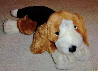 Us Animal Alley Stuffed Beanbag Bassett or Beagle Type Dog  14 Long
