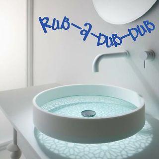 Rub A Dub Bathroom Kitchen Quote Wall Art Decor Sticker Home Design
