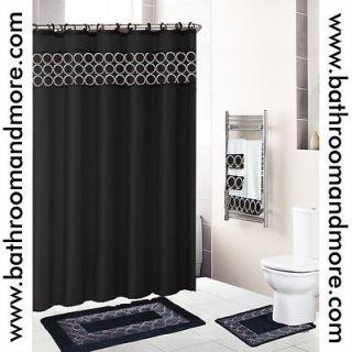 Dolphin 18 Pc Bathroom Set2 Rugs/Mat s/1 Fabric Shower Curtain/12 Pla