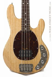 Ernie Ball Bass Guitars   Music Man Stingray 4   Natural Finish