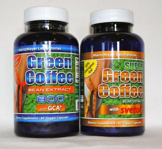 PURE GREEN COFFEE BEAN EXTRACT 50% CHLOROGENIC ACID WITH SVETOL AND