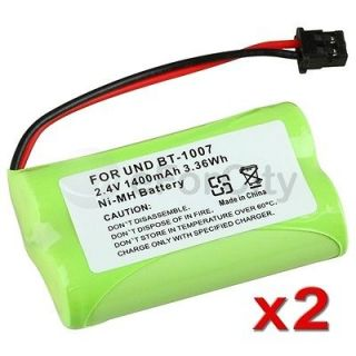 Newly listed 2x 3.3Wh battery For Uniden BT 1007 Cordless Home Phone