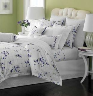 Martha Stewart Trousseau Violets Full/Queen Quilted Coverlet