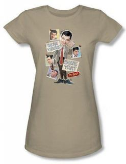 Mr. Bean Been There Juniors Babydoll Funny TV Show T Shirt Tee
