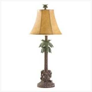 NEW Palm Tree Lamp With Monkeys