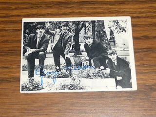 Newly listed Beatles Series 1 Signed Trading Card #1 George Harrison