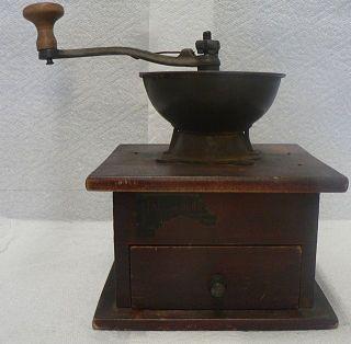 OLD VINTAGE HAND OPERATED COFFEE GRINDER