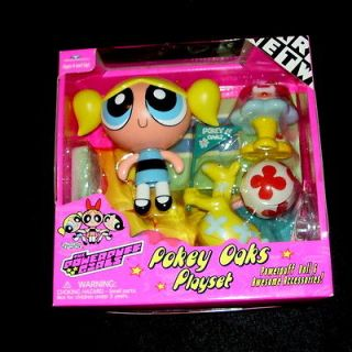 2000 POWERPUFF GIRLS POKEY OAKS PLAYSET BUBBLES NEW NOS SEALED