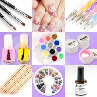 24 in 1 Good Value Acrylic UV Gel Nail Art Decoration Supplies Box Set