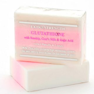 Premium Extra Strength Whitening Soap w/ Glutathione, Rosehip, and