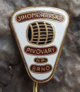 Pivovary South Moravia Brno Beer Brewery Wooden Barrel Pin
