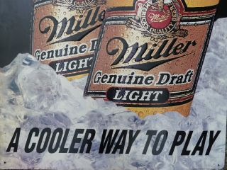 Miller Metal Beer Sign A Cooler Way to Play 49 H x 24 W Man Cave