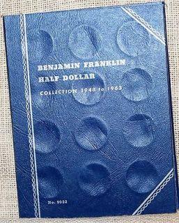 Benjamin Franklin Half Dollar 1948 1963 used Whitman #9032 Coin Folder