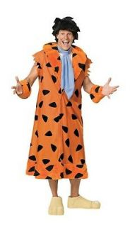 Adult Fred Flintstone XL Mens Deluxe 7pc Costume Flinstone New