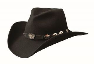Jack Daniels® JD03 43, Black 100% Crushable Wool Cowboy Hat, Water