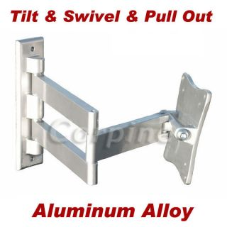 ARM TILT SWIVEL LCD LED FLAT PANEL MONITOR TV WALL MOUNT 15~27 m11