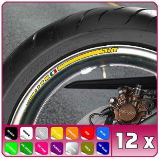 12 x BENELLI TnT WHEEL RIM DECALS 1130 899 titanium