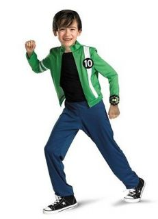 BOYS CARTOON NETWORK BEN 10 GREEN SHIRT OMNITRIX COSTUME NEW STYLE
