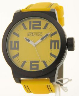MENS KENNETH COLE REACTION RUBBER NEW LARGE WATCH RK1256