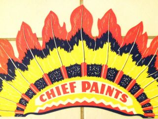 CHIEF PAINTS ADVERTISING PREMIUM INDIAN HEADDRESS COSTUME PARTY HAT