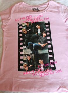 Girls BIG TIME RUSH Make it Count; Dream Big Time T shirt Top Pink