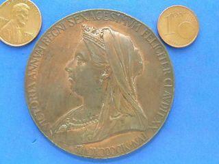 Queen Victoria Diamond Jubilee HUGE Bronze Medal. 55.8mm. BHM 3506