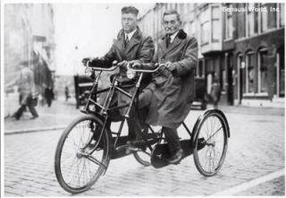Dutch Three Wheel Tandem Tricyle Bike Bicycle Postcard