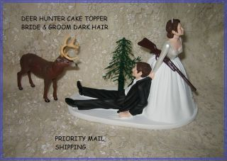 HUMOROUS WEDDING 10 PT BIG BUCK DEER HUNTER HUNTING CAKE TOPPER