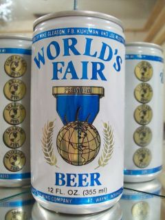 WORLDS FAIR BLUE OLD BEER CAN ALUM STAY TAB