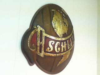 S7 SCHLITZ BEER SIGN 3 D GLOBE WORLD BELTED VINTAGE OLD BREWERY BAR