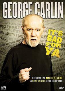 George Carlin   Its Bad for Ya (DVD, 2008)