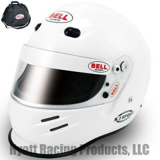 Bell K.1 Sport Auto Racing Helmet SA2010   All Sizes / White (Free Bag