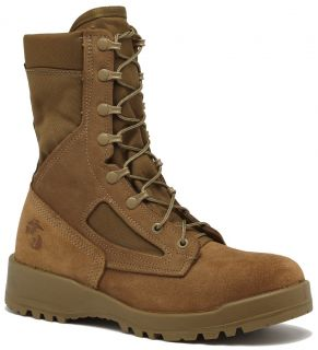 BELLEVILLE USMC 590 HOT WEATHER BOOTS USA MADE COYOTE (OLIVE MOJAVE)
