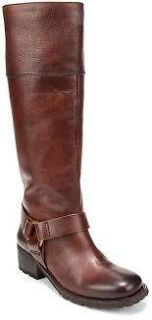 LUCKY BRAND ABENI TABACCO LEATHER WESTERNY BOOT/ BOLLO / VINCE