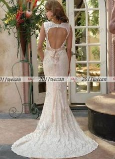 2012 New Real Picture Floor Length Sash Lace Wedding Dress With