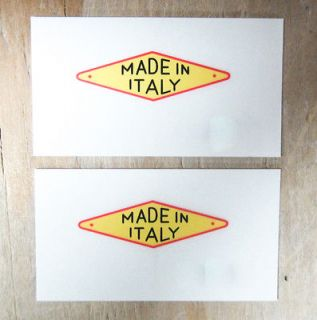Made in Italy Red Yellow Black Sticker Decal Decals Ducati Benelli