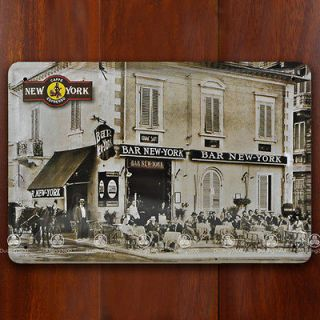 Tin Sign Wall Decor Retro Metal Art Poster Caffe Bar New York Espresso
