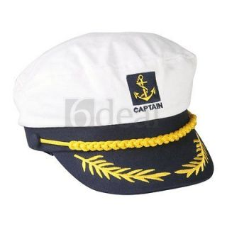 Captain Navy Marine Sailor Hat Cap Party Fancy Dress
