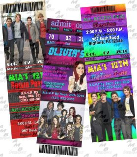 Big time rush & Victorious invitations + party supplies