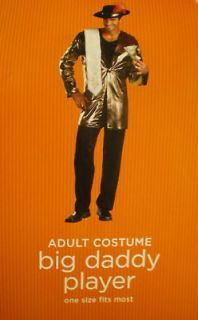 Big Daddy PLAYER PIMP Costume MEN Bling 4pc GOLD JACKET