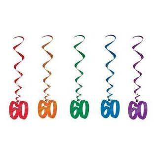 60th Whirls birthday party favors decorations supplies sixtieth sixty