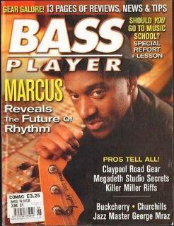 BASS PLAYER Magazine 6/2001 Les Claypool Megadeth Buckcherry Marcus