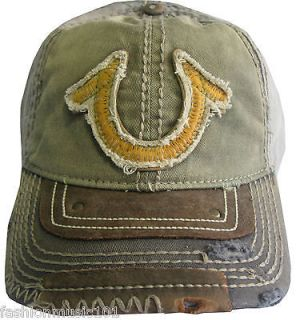 NWT TRUE RELIGION True Logo Embroidered Baseball Cap HAT OSFA Color